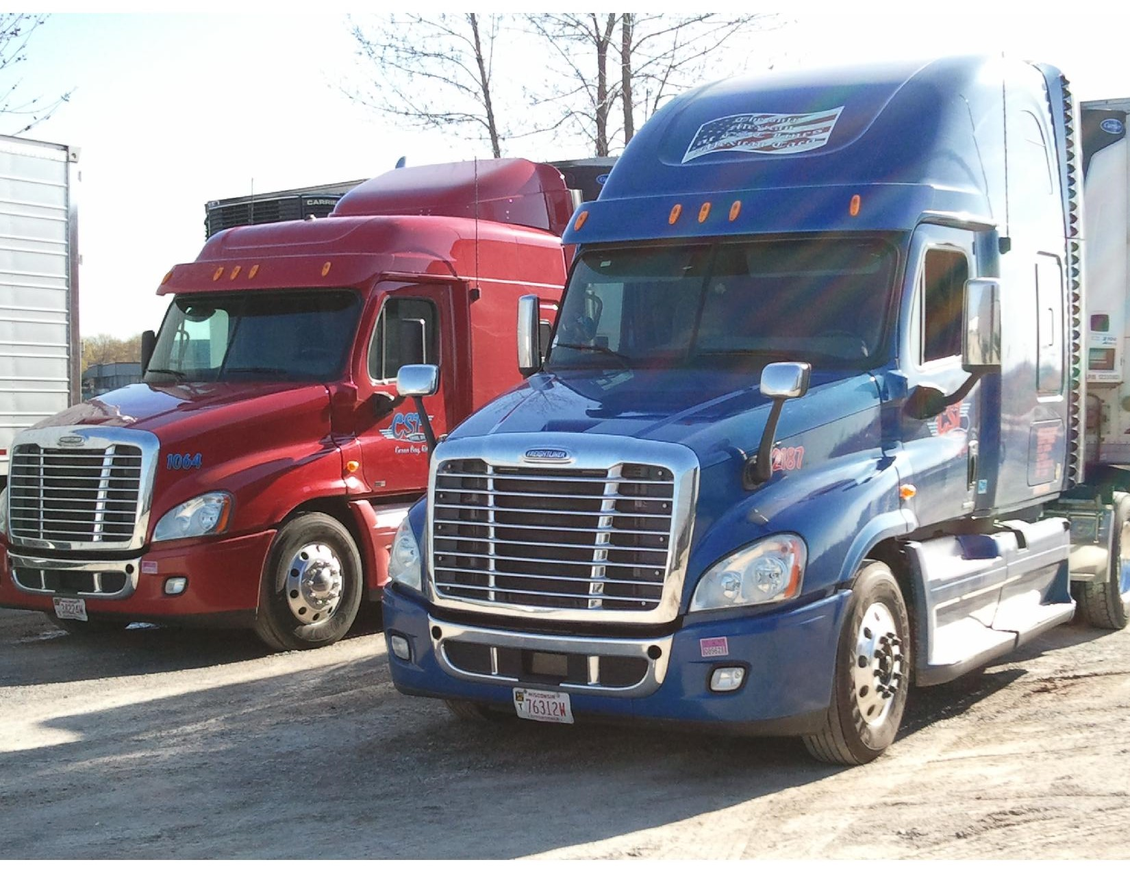 Four Trucking Company Trucks - CST Lines, Inc, Green Bay, WI